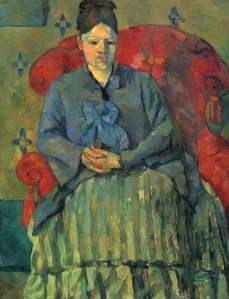 Cezanne - Mme Cezanne in Red Armchair
