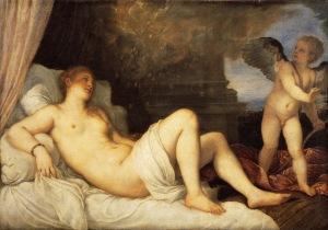 Titian - Danae with Eros