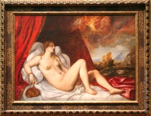 Titian - Danae with face (Chicago)