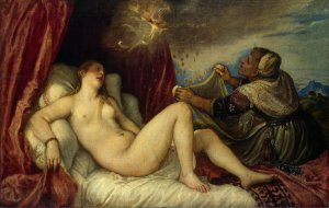 Titian - Danae with Nursemaid (Hermitage)