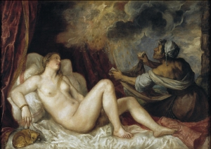 Titian - Danae with Nursemaid
