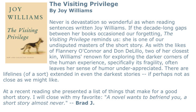 Visiting Privilege