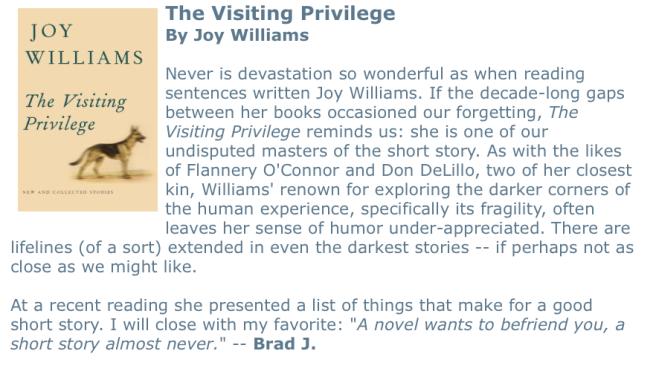 Visiting Privilege